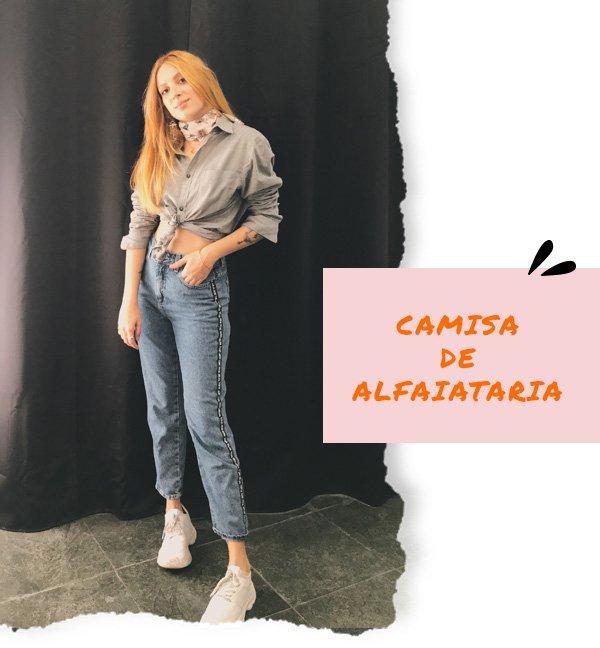 Ali Santos - camisa de alfaiataria com calça jeans - dia dos namorados - inverno - street style