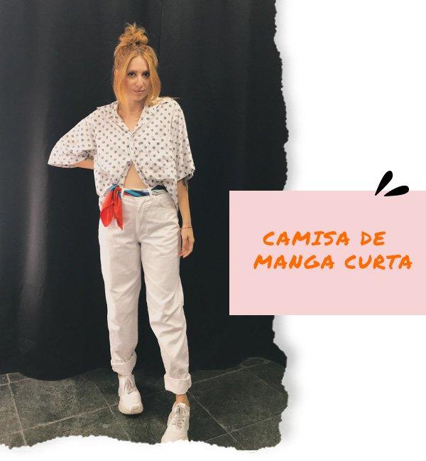 Ali Santos - camisa manga curta e caça branca - dia dos namorados - inverno - street style