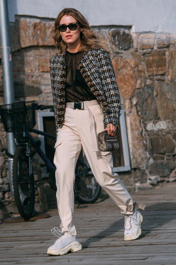 Annabel Rosendahl -      - calça cargo - inverno - street style