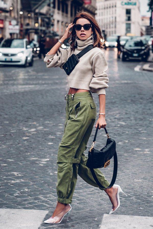 Annabelle Fleur -      - calça cargo - inverno - street style