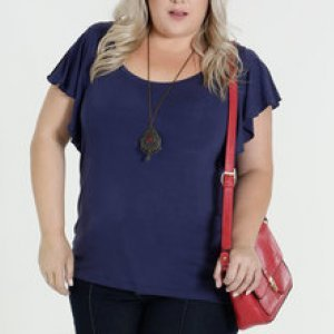 Blusa Feminina Babado Plus Size Marisa