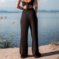 Calça Pantalona Black - G Preto