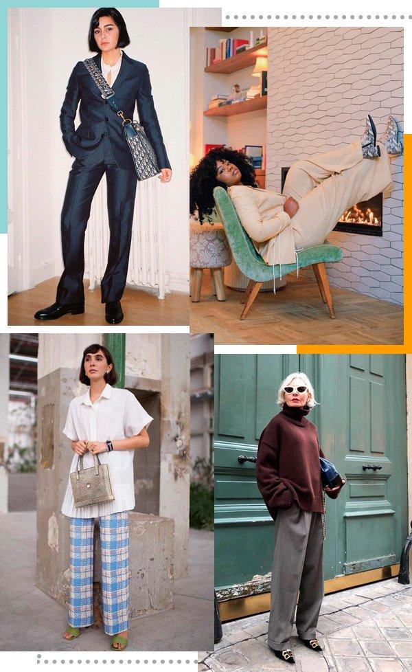 María Bernard, Micaéla Verrelien, Angelica Bucci, Grece Ghanem - calça-reta - calças - inverno - street-style