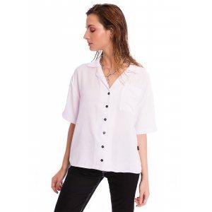 Camisa Branca Com Botões - M Branco