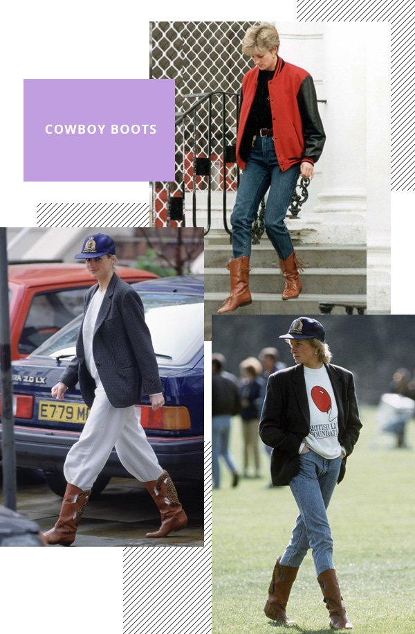 Lady Diana - cowboy boots - cowboy boots - inverno - street style