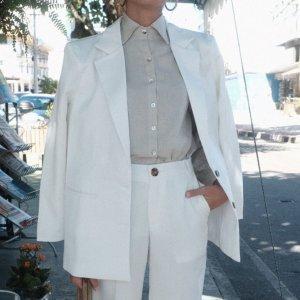 Blazer Oversized Offwhite - M Branco