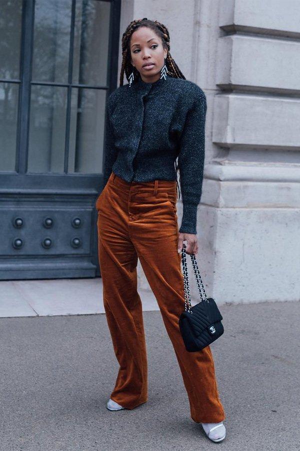 Ellie - calça jeans - veludo cotelê - inverno - street style