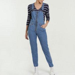 Macacão Feminino Jeans Zíper Marisa