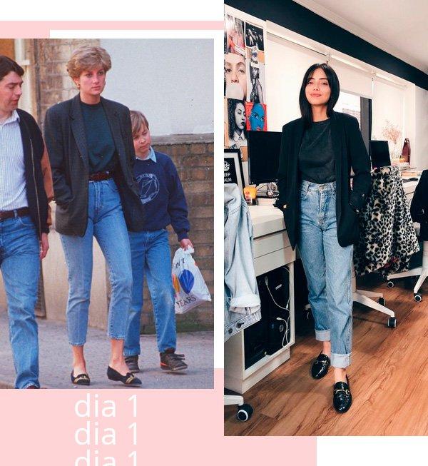 Lady Diana, Giovana Marçon - jeans-blazer - jeans - inverno - street-style