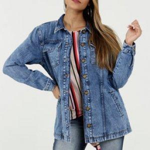 Jaqueta Feminina Parka Jeans Marisa