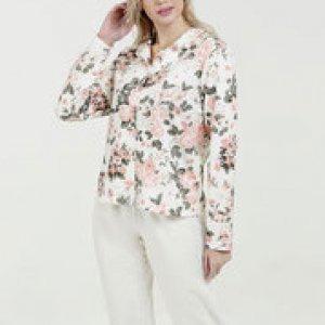 Pijama Feminino Estampa Floral Manga Longa Marisa