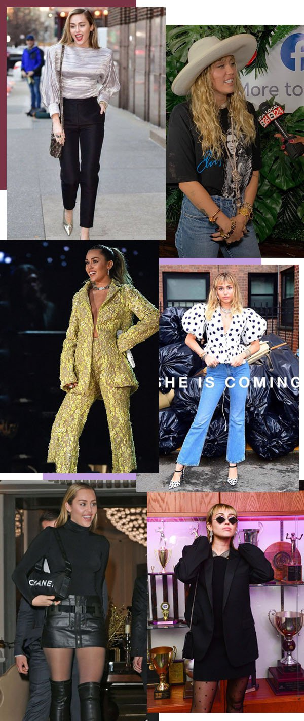 Miley Cyrus  - Looks - 70's  - Inverno - Street Style