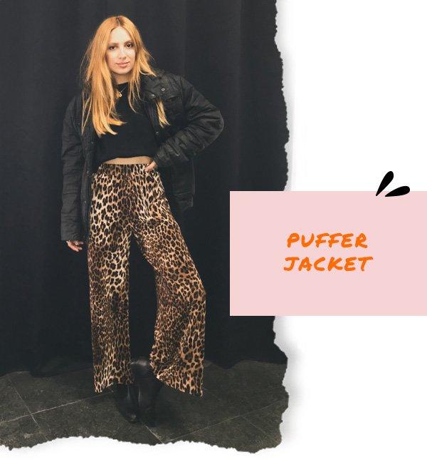Ali Santos - calça de onça e puffer jacket - dia dos namorados - inverno - street style