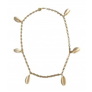 Coquillage Charm Necklace - U Dourado