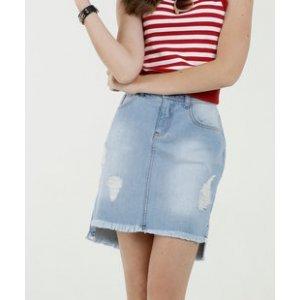 Saia Feminina Jeans Destroyed Marisa