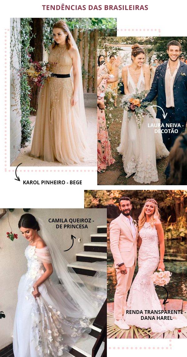 Karol Pinheiro, Laura Neiva, Camila Queiroz, Isabella Mezzadri - vestido-de-noiva - noiva - inverno - casamento