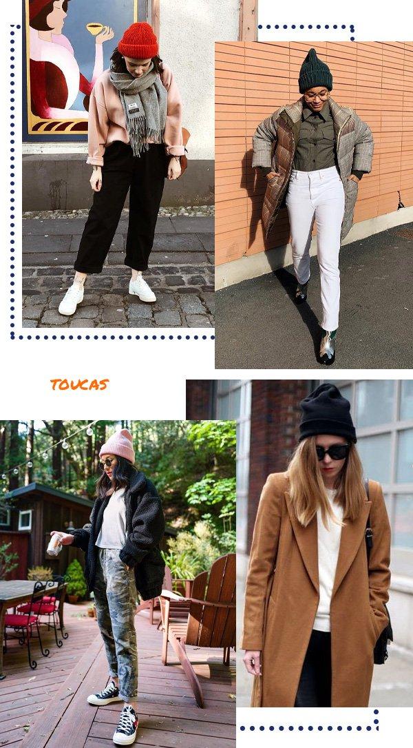 Jana Huhn, Tamu Mcpherson, Kate Ogata - casacos, toucas, calças - toucas e gorros - inverno - street style