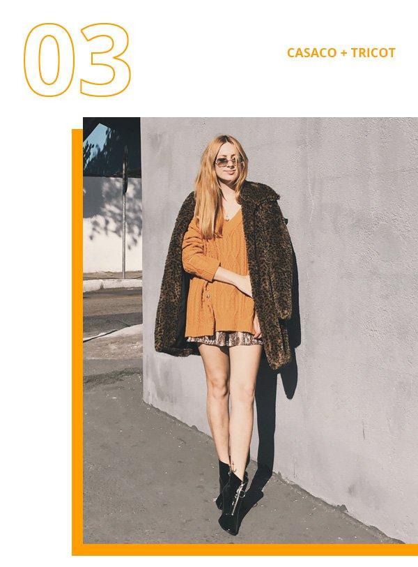 Ali Santos - tricot amarelo e casaco de oncinha - casaco de oncinha - inverno - street style