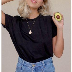T-Shirt Basic Preta - P Preto