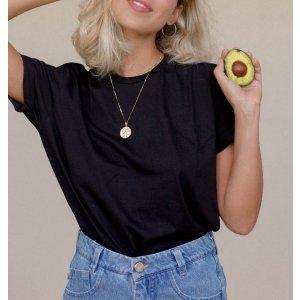 T-Shirt Basic Preta - G Preto