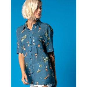 Camisa Aloha Blue - P Azul