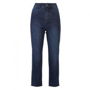 Calça Jeans Reta Com Barra Fio