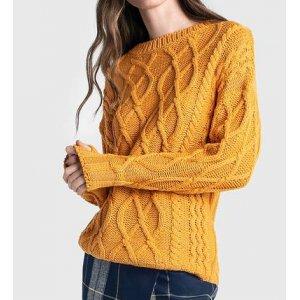 Suéter Em Tricô Com Mix De Pontos