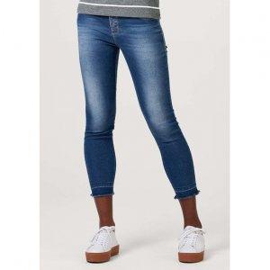 Calça Jeans Feminina Cigarrete Lavação Estonada Eco Jeans