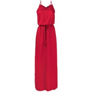 Vestido Básico Longo Com Fendas Laterais