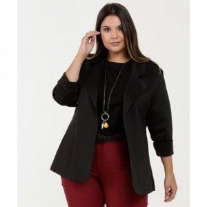 Blazer Feminino Neoprene Plus Size Marisa