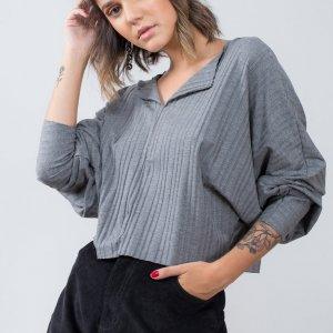 Blusa Nina Mescla - M Cinza