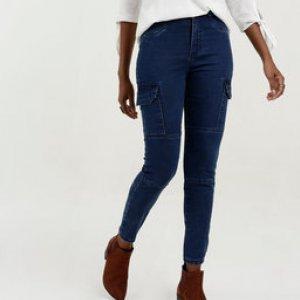 Calça Feminina Jeans Cargo Marisa