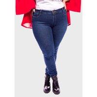 Calça Jeans Basic Super Skinny com Lavagem Plus Size
