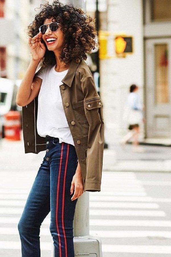 reprodução pinterest -      - calça listrada - inverno - street style
