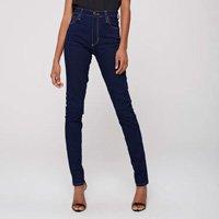 Calça Jegging Jeans de Cintura Altíssima