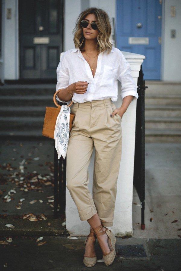 reprodução pinterest - calça utilitary e camisa - calça utilitary - inverno - street style