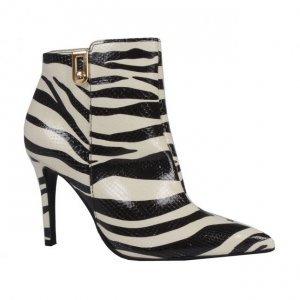 Bota cano curto Zebra P&B I19