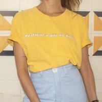 T-Shirt Lembrete - M Amarelo