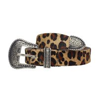 Cinto Dallas Animal Print - P Marrom