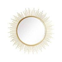 Espelho Redondo de Parede com Moldura em Metal Dourado Netuno - Orb