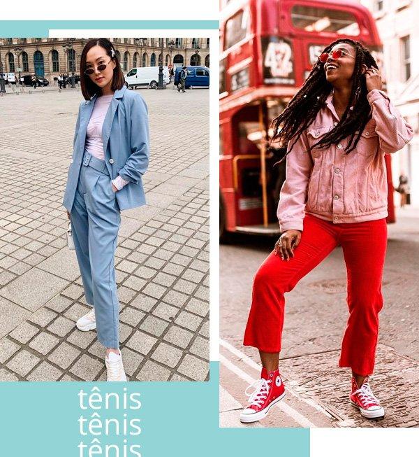 Chriselle Lim, Uzy Nwachukwu - tênis - tênis - inverno - street-style