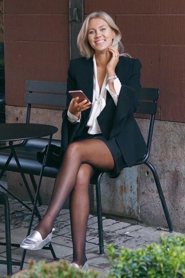 Isabella Löwengrip - terninho e meia-calça - meia-calça - inverno - street style