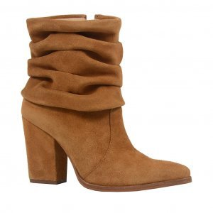 Bota bege slouch boot