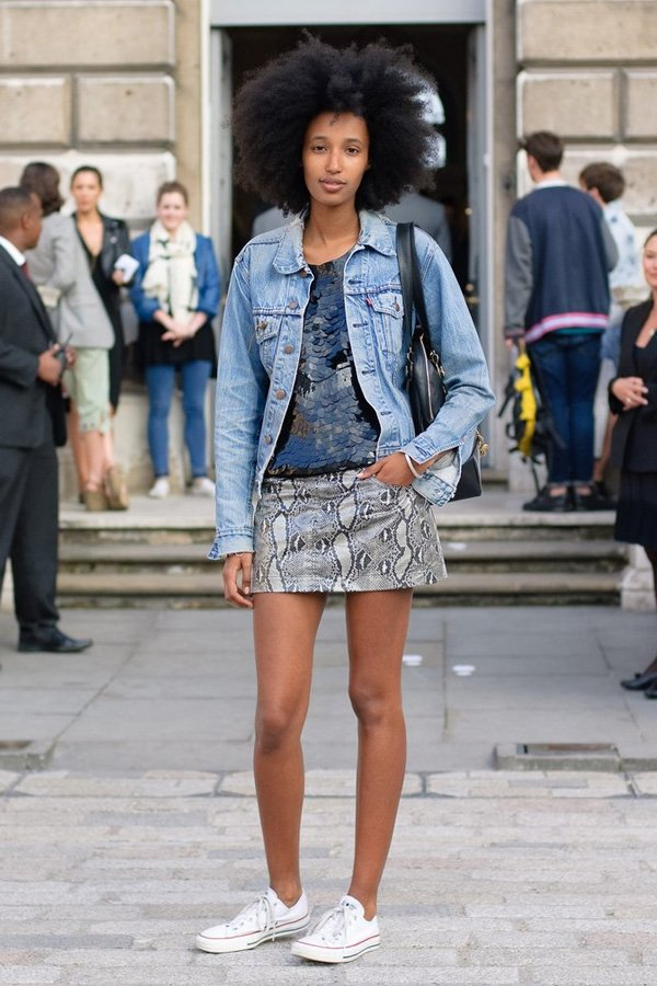 Julia Sarr Jamois - all star - all star converse - inverno - street style