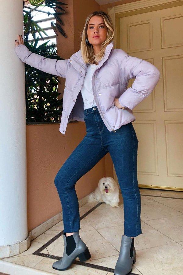 Julia Tiberio - puffer jacket - jaqueta puffer - inverno - street style