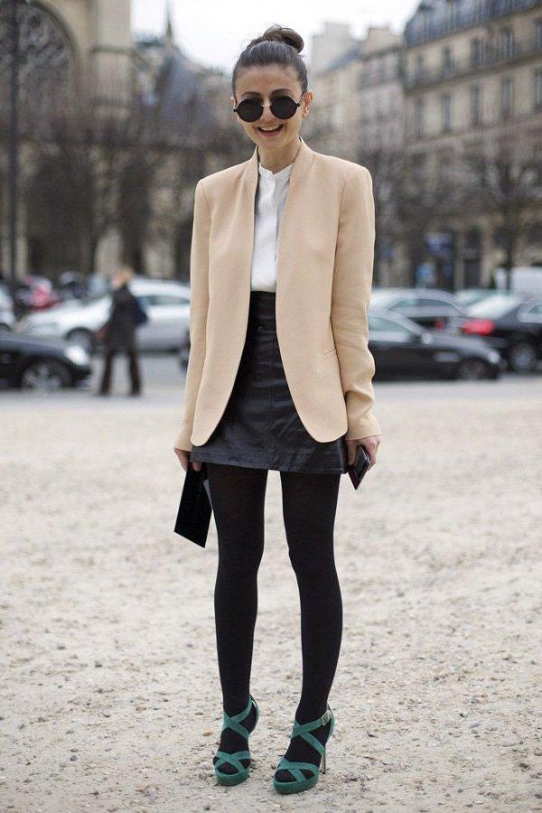 reprodução pinterest - meia calça - meia calça - inverno - street style
