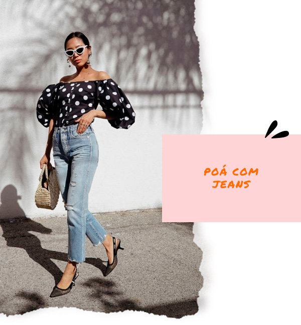 Aimee Song - blusa-poa-jeans - poá - inverno - street-style
