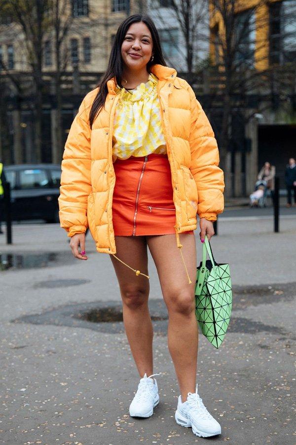 reprodução pinterest - puffer jacket - jaqueta puffer - inverno - street style