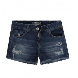 Shorts Jeans Feminino Destroyed Cintura Alta