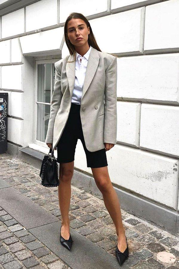 Sophia Roe - biker short e blazer - biker shorts - inverno - street style